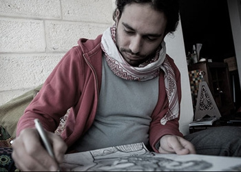 "Amer Shomali, co-director and visual artist for ""The Wanted 18"""
