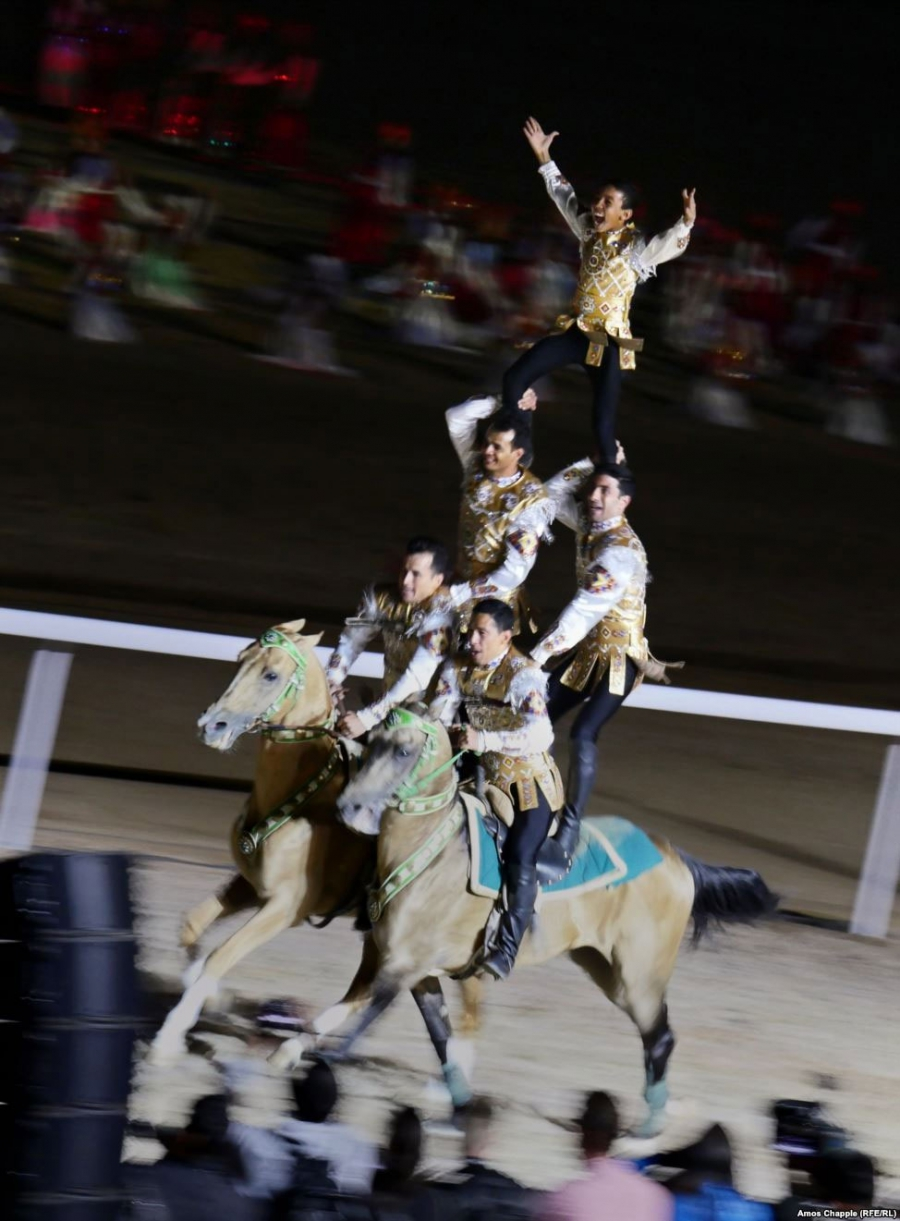 The Nomad Games were officially opened to the thunder of hooves.