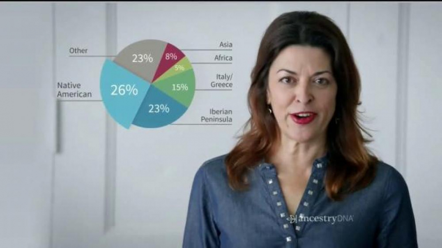Kim Trujillo in an Ancestry.com ad for DNA testing.