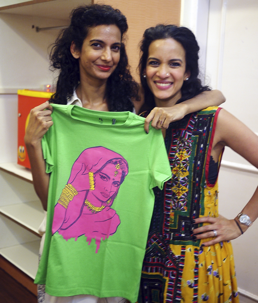Anouska Shankar wearing Don't Mess With Me t-shirt