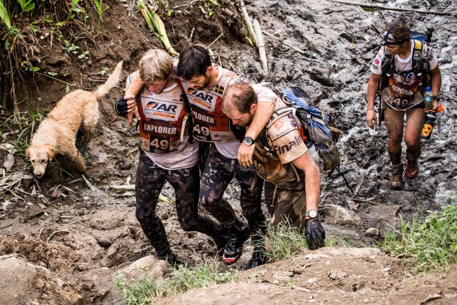 Arthur and Team Peak Performance in the Amazon rainforest.