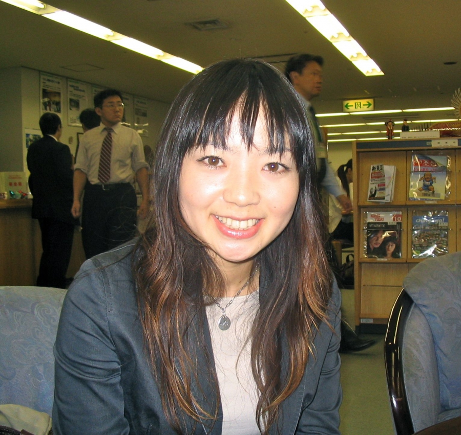 Aya Kano is a reporter with Hiroshima's main newspaper. As a student at school, she was bored by trips to Hiroshima's Peace Memorial Park.