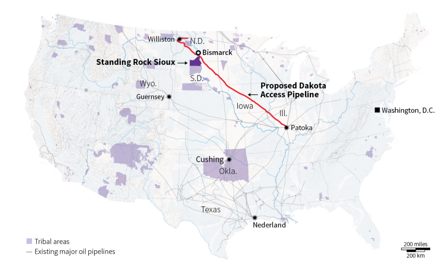 North Dakota pipeline map