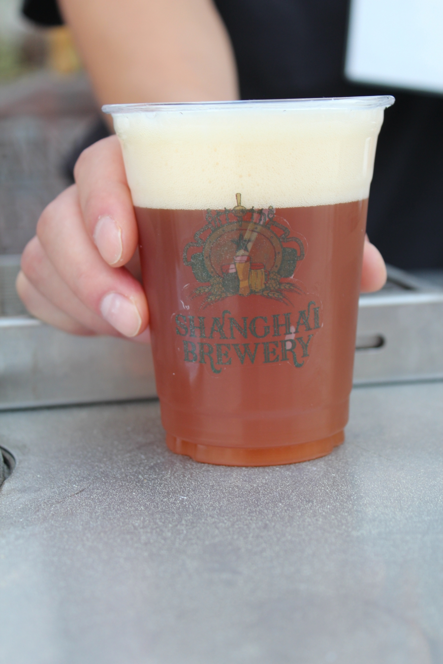 A local craft brew from Shanghai Brewery.