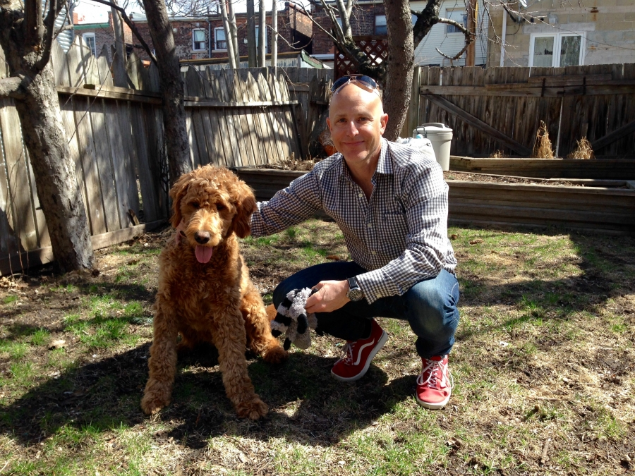 Toronto resident Bennett Mills and his dog, Russell.