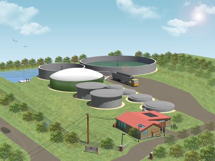 Plans for a biogas plant at Toronto's Zoo.