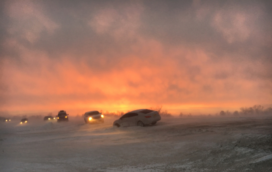 Several roads leading in and out of Standing Rock have been blocked, and there's been numerous accidents.
