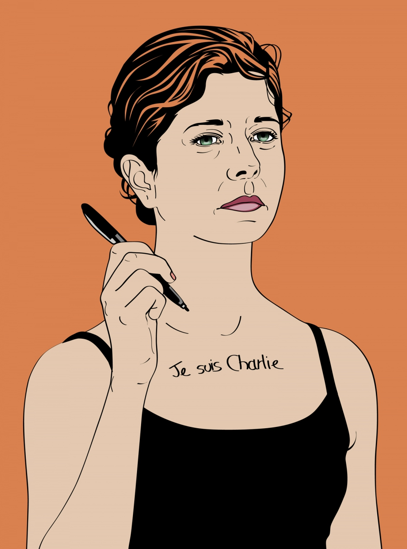 María María Acha-Kutscher je suis charlie