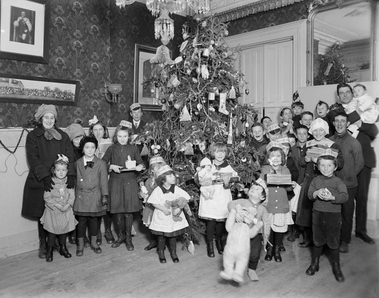 Childrens Christmas Party After Halifax Explosion 1917