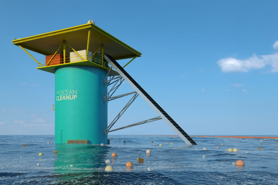 what the Ocean Cleanup might look like