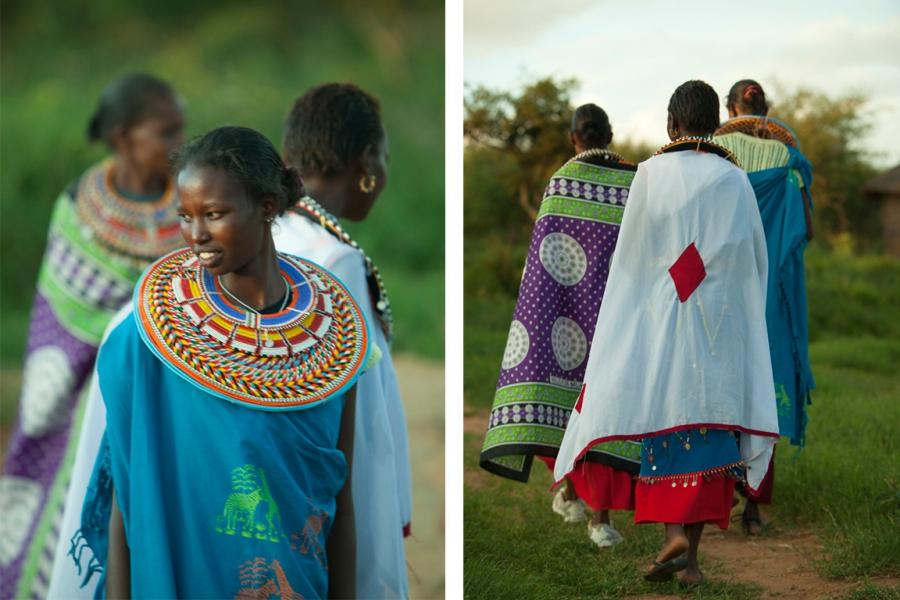 Maasai women of Twala Cultural Manyatta in Laikipia, Kenya