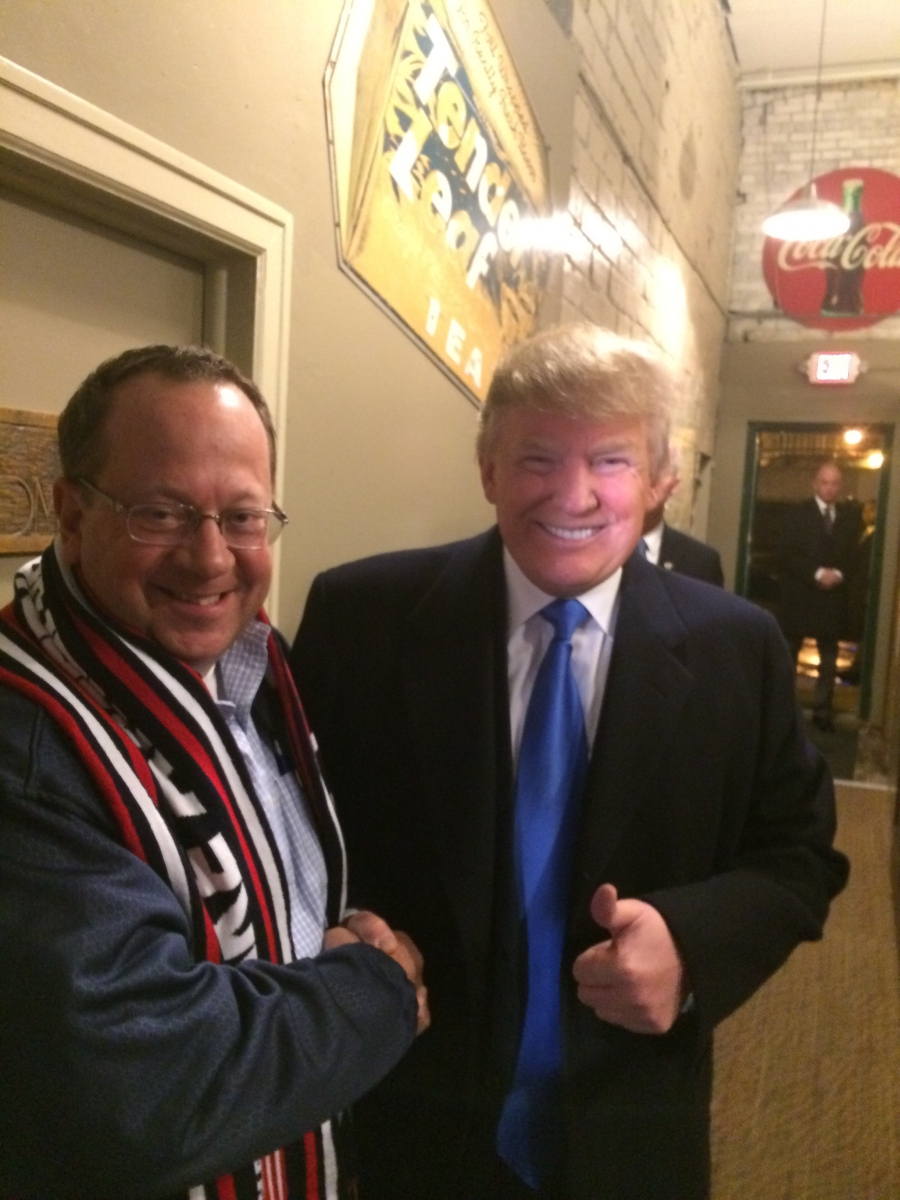 Dave McNeer meeting with then presidential candidate Donald Trump in Iowa in 2016.
