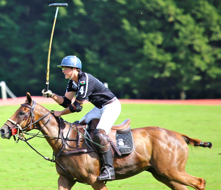 Costa Rican polo player Mauricio Diaz