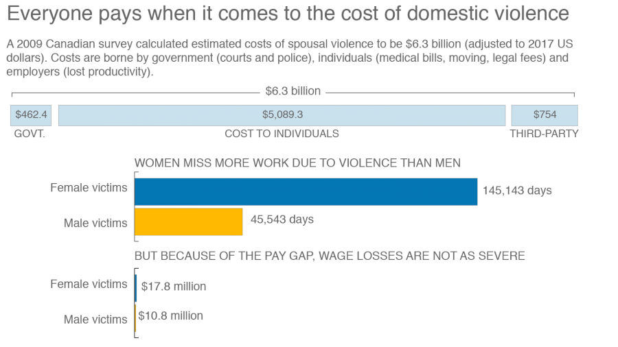 Domestic violence costs