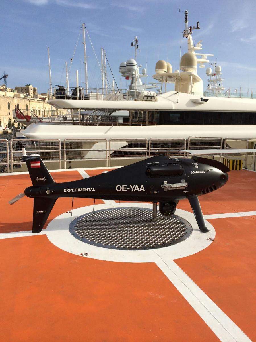 The MOAS rescue ship is equipped with drones.