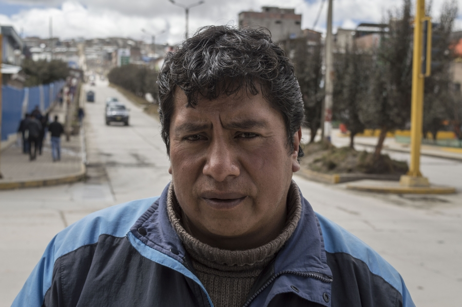 Most of Simeón Martín's family has moved from Cerro de Pasco. But he and his daughter have stayed — he works in construction and his 25-year-old daughter is married to a miner that works at Colquijirca, which is about 8 miles south of Cerro.