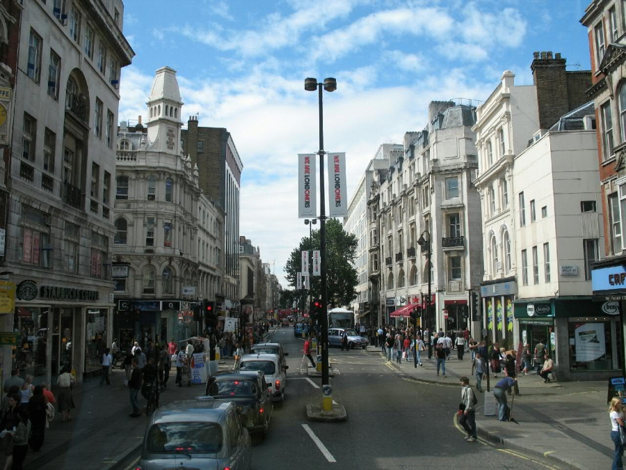 London's Oxford Street is usually full equal parts people and vehicles.