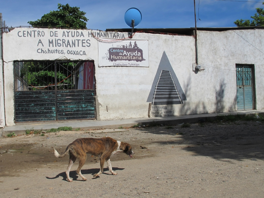 """The migrant shelter in Chahuites closed in June 2017 after the local municipal president, known as the """"Trump of Oaxaca,"""" worked to shut it down."""