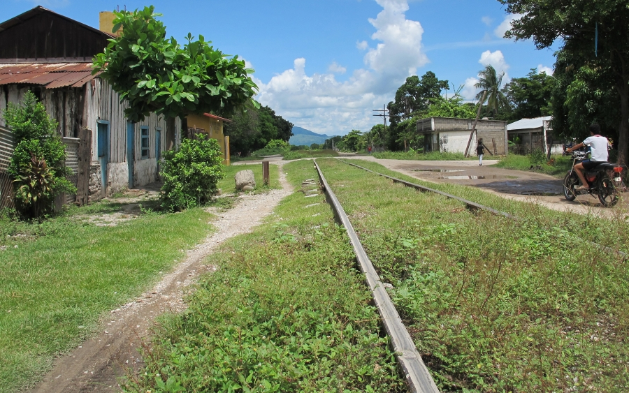 Railroad tracks in Chahuites. Some migrants spend weeks walking along train tracks in southern Mexico where they face high risks of robbery, kidnapping and sexual assault.
