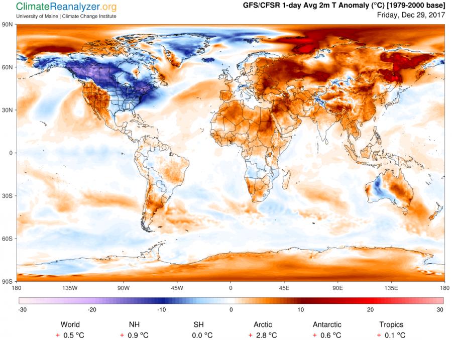 map of world under freeze