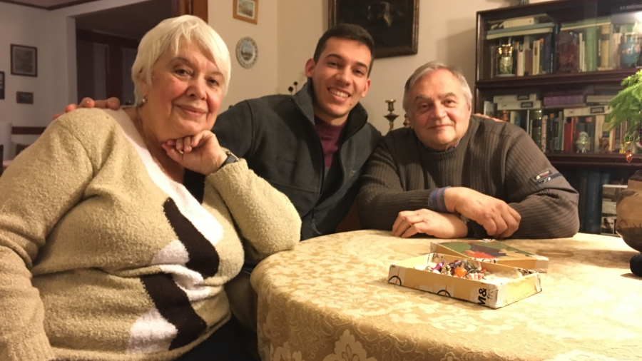 My grandparents reminisced about their New Year's traditions in Russia.