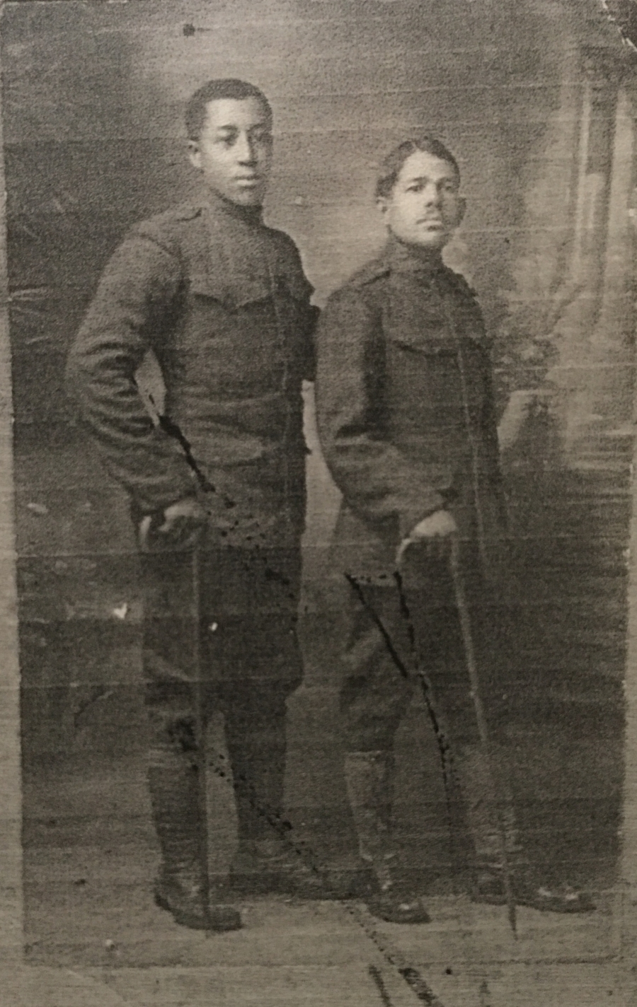 Cpl. Jesse Moore, right, was among the 13 soldiers hanged.