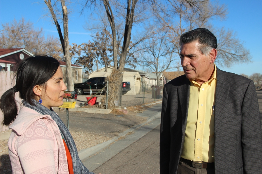 """Meral Cooper with the Sierra Club and Pueblo City Councilmember Larry Atencio. Grassroots activists, local politicians and the Sierra Club have joined forces to fight what Atencio calls """"exorbitant"""" electricity rates."""