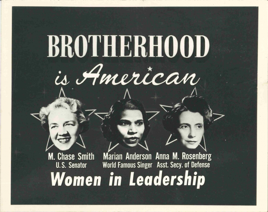 This poster was part of a TV promotional campaign for National Brotherhood Week in 1951.