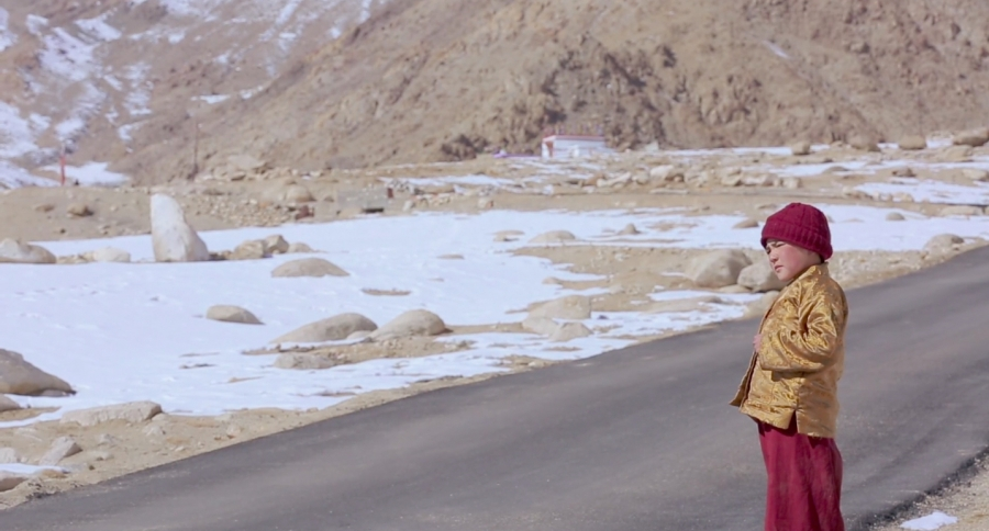 The rinpoche in his Himalayan village.