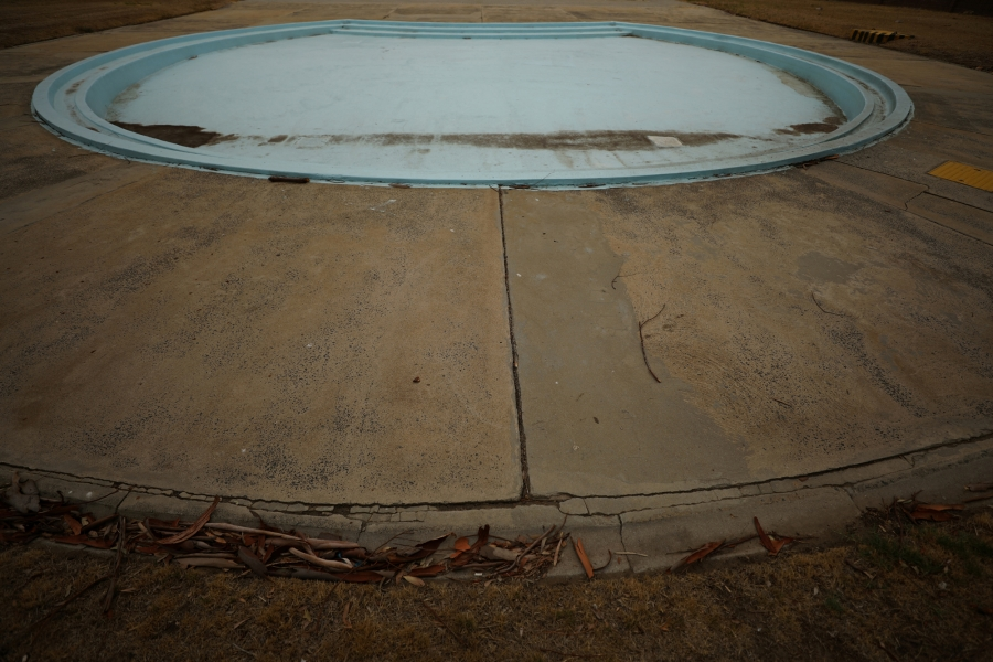 The children's section of Trafalgar swimming pool lies empty in Cape Town.