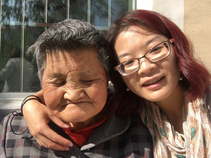 Abigail Anderson visits her surrogate grandmother from the Xining Children's Home
