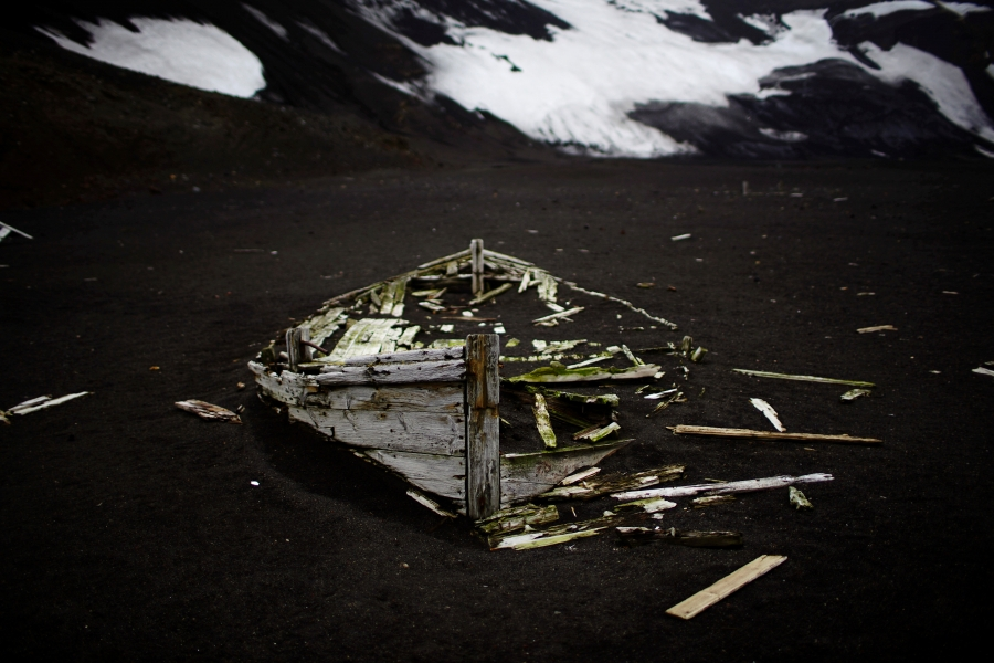 remains of a boat