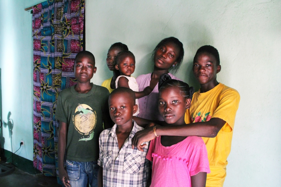 Fortuné's singing group ranges in age from 10 to 16. They organize their own rehearsals, after school and after church.