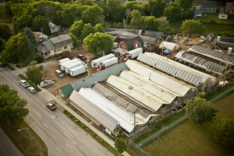 Growing Power's Milwaukee farm.