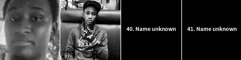 Mamadou Dian Diallo, 21 (from left); Alpha Oumar Diallo, 19.