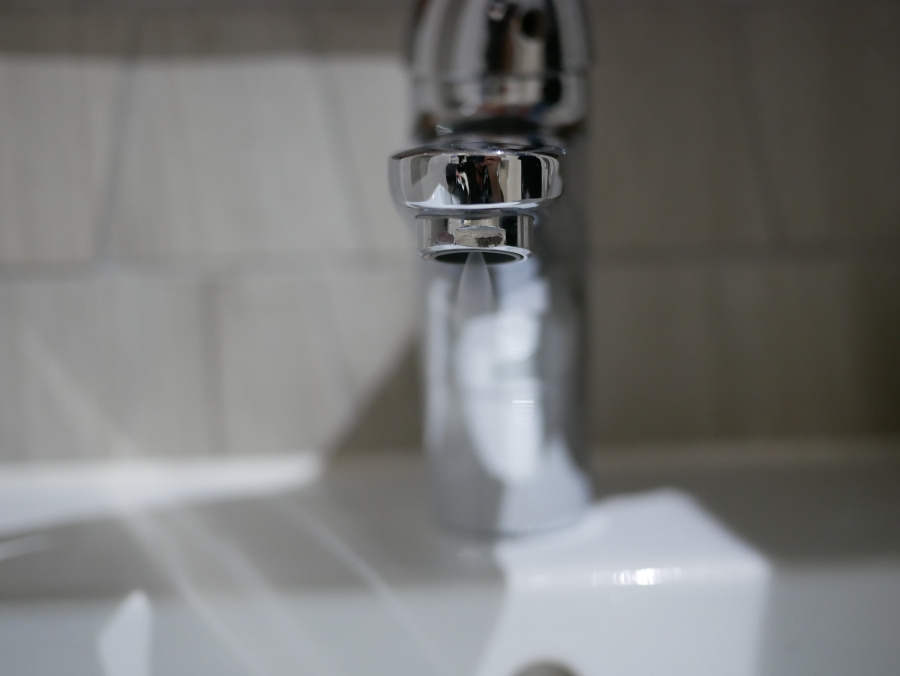 A low flow faucet, which is one of several water-saving measures in place at Cape Town's Christiaan Barnard Hospital.