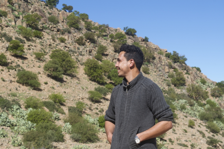 Mohammed Hamou Ali standing in the mountains