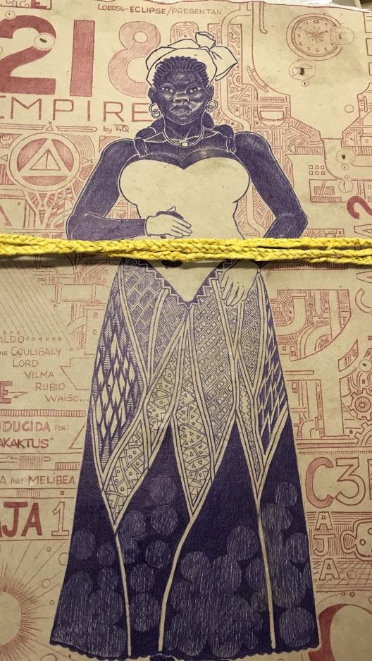 Drawn from Black Beach prison in Malabo, Equatorial Guinea.