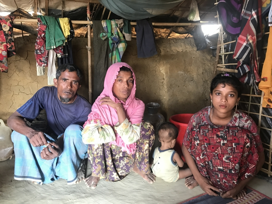 """Cyclone season looms in Bangladesh, putting refugee camps in peril. But after witnessing multiple atrocities in Myanmar, Norangiz says """"I cannot take any more thinking."""""""