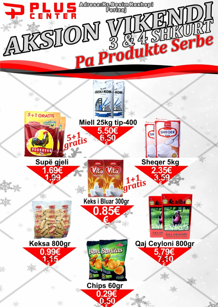 "Plus Market's Facebook page advertises ""No Serb products"""