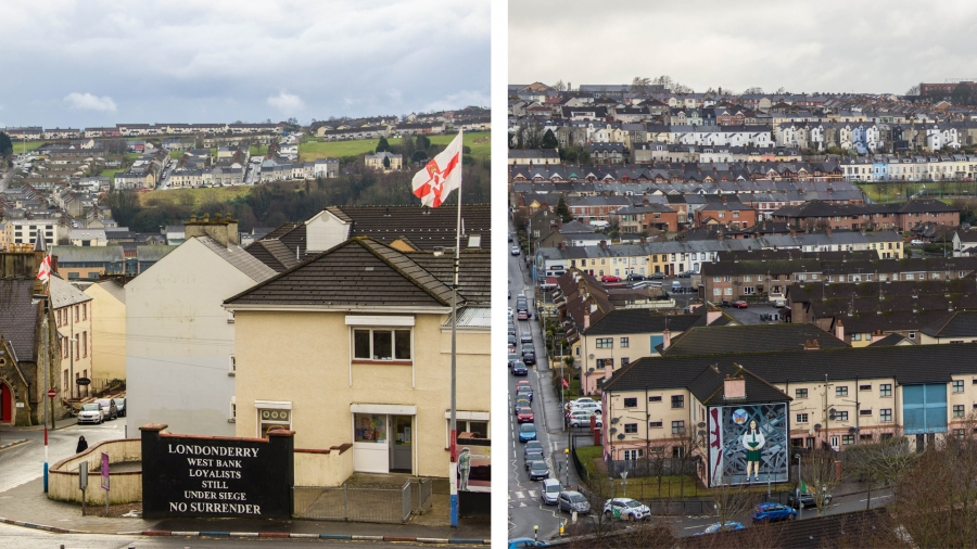 Derry/Londonderry is a lovely, thriving and prosperous city. But there are still some signs of its sectarian history evident today.