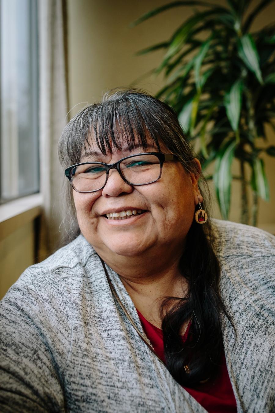 A close-up of Indigenous Elder Doris Paul.