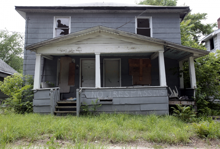 Many of the once-thriving working-class neighborhoods of Flint, Mich., have been largely abandoned.