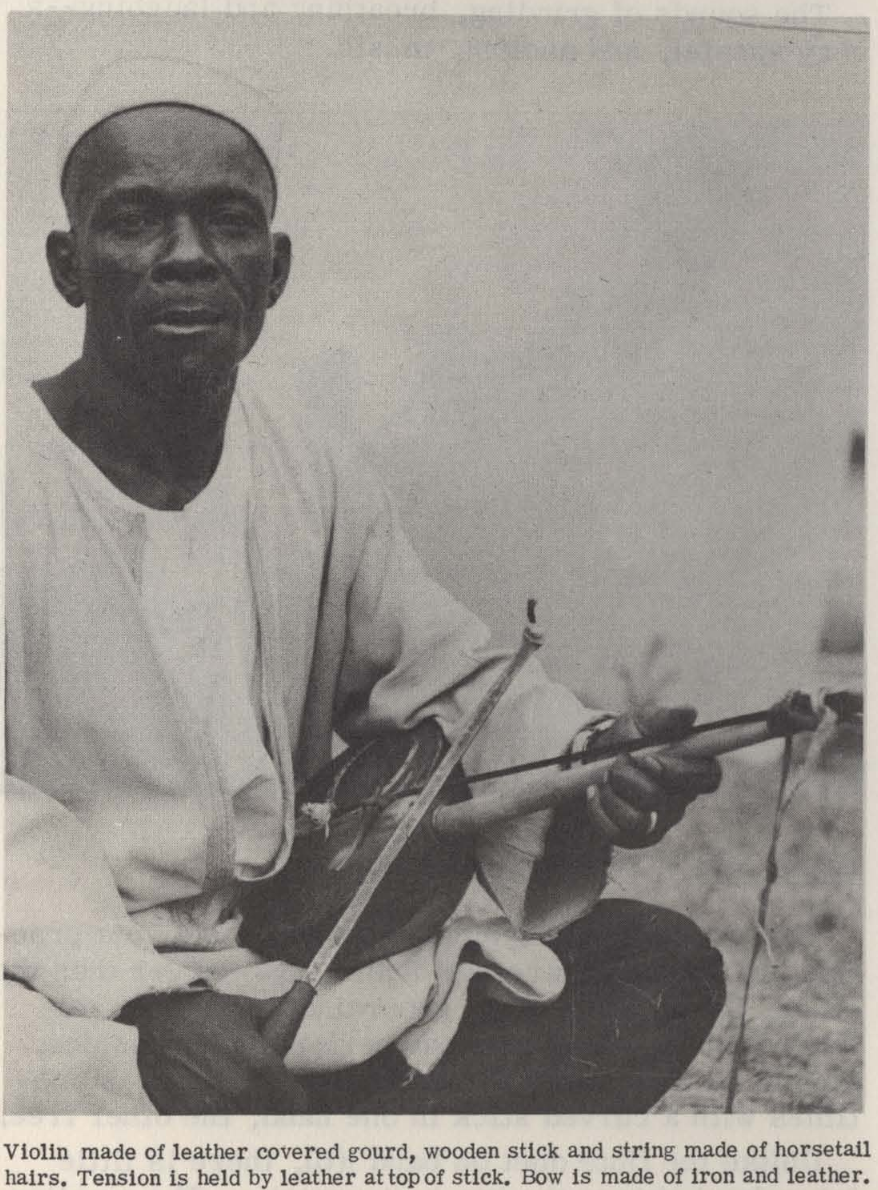 Smithsonian Folkways Archive photo of violinist in Jos Plateau