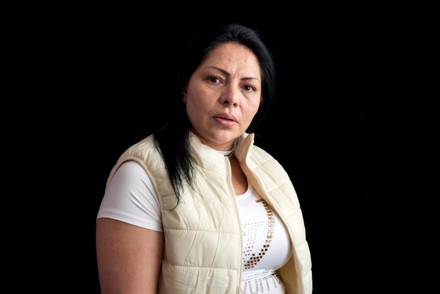 A portrait of inmate Norma Patricia Bustos Buendía in Mexico.