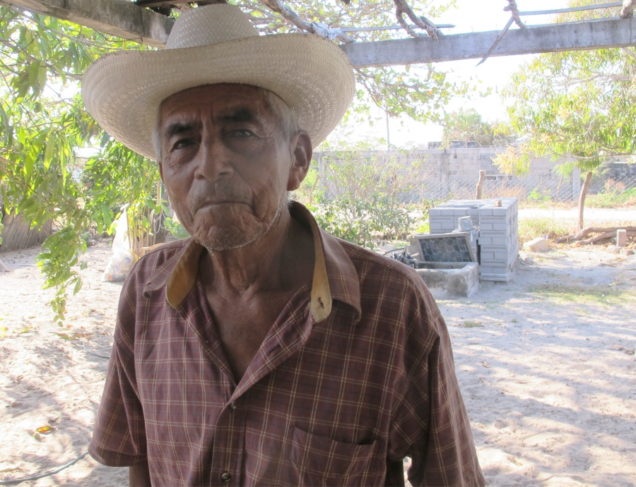 Martincito Ramírez, 80, is one of the last people in the town of Santa Maria del Mar who can still speak Huave fluently.