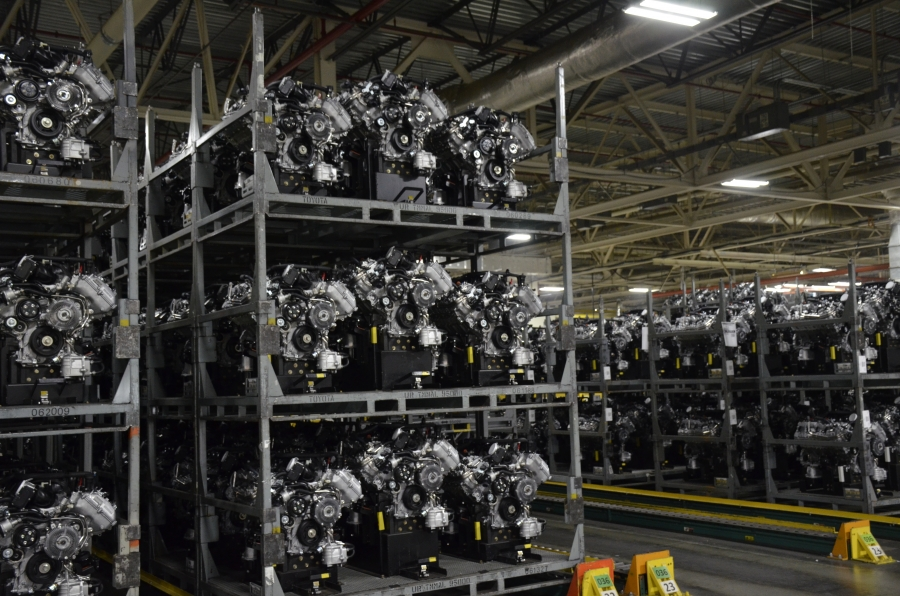 Roughly 1,400 people build Toyota engines at the company's plant in Huntsville. Its new joint operation with Mazda, to be built nearby, is expected to employ 4,000 people.