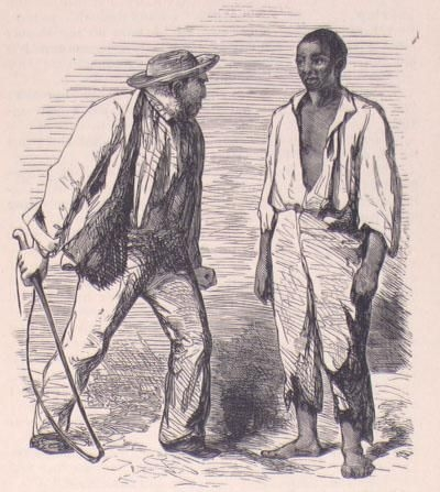 "This illustration comes from an 1853 British edition of ""Uncle Tom's Cabin."""