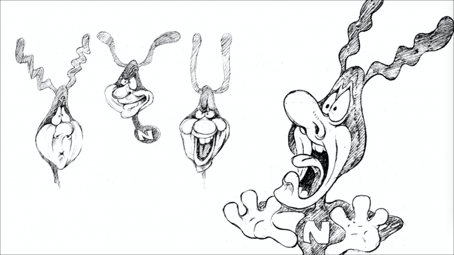 Sketches of The Noid from Will Vinton Studios.