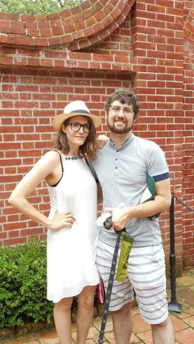Inez Feltscher poses with her fiancé, Jarrett Stepman.